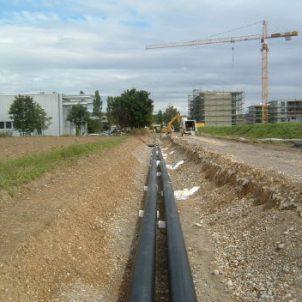 FW-Rohrleitungsbau. Fernwärmeleitungen